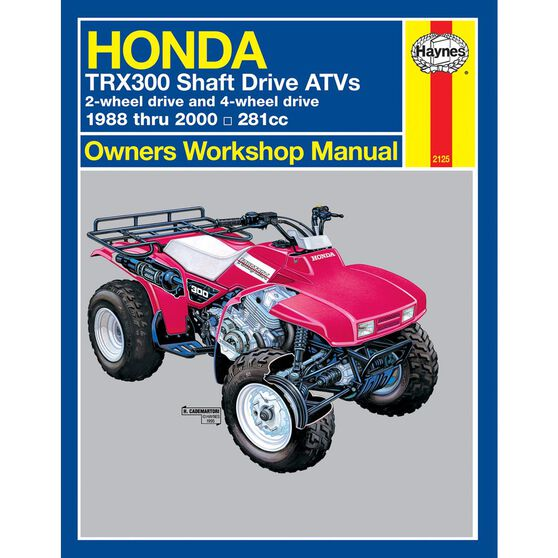 HONDA TRX300 SHAFT DRIVE ATVS 1988 - 2000, , scaau_hi-res