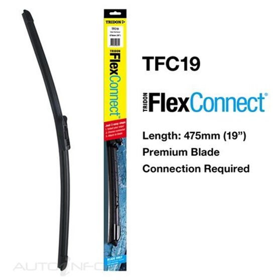 TRIDON FLEXCONNECT BLADE 475MM 19IN, , scaau_hi-res