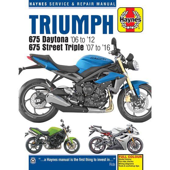 TRIUMPH 675 DAYTONA & STREET TRIPLE 2006 - 2016, , scaau_hi-res