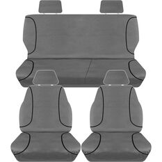 TRADIES CANVAS SEAT COVER TO SUIT: HOLDEN COLORADO RG DUAL CAB LX 12- 14