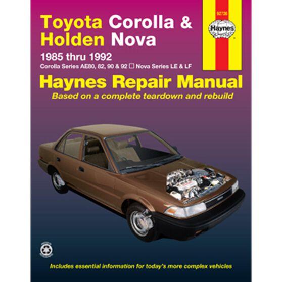 TOYOTA/HOLDEN COROLLA & NOVA 1985-1992, , scaau_hi-res