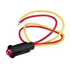 12V PRE-WIRED FLASHING RED LED, , scaau_hi-res