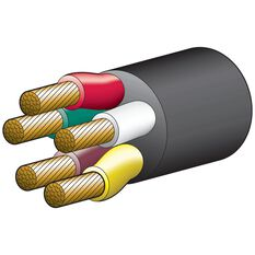 TRAILER CABLE 5 CORE 6MM 55AMP, , scaau_hi-res