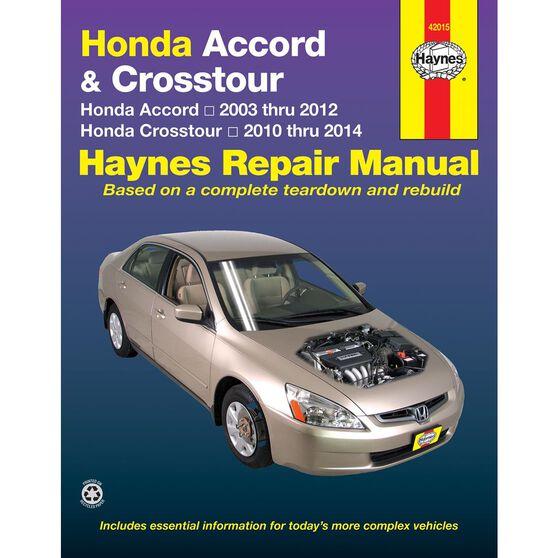 HONDA ACCORD HAYNES REPAIR MANUAL COVERING ALL MODELS FOR 2003 THRU 2012, , scaau_hi-res