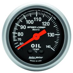"""SPORT-COMP 2-1/16"""" OIL TEMP 60-140DEGC, MECHANICAL, 6FT"""