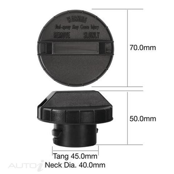 TRIDON NON LOCKING FUEL CAP, , scaau_hi-res