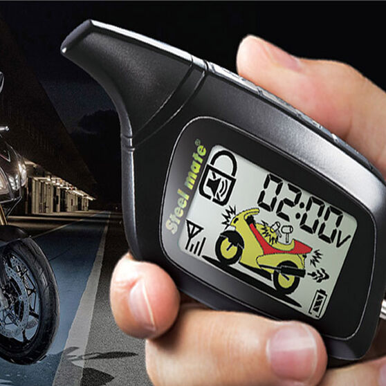 Steelmate 2-Way Motorcycle Alarm with LCD Remotes 886W, , scaau_hi-res