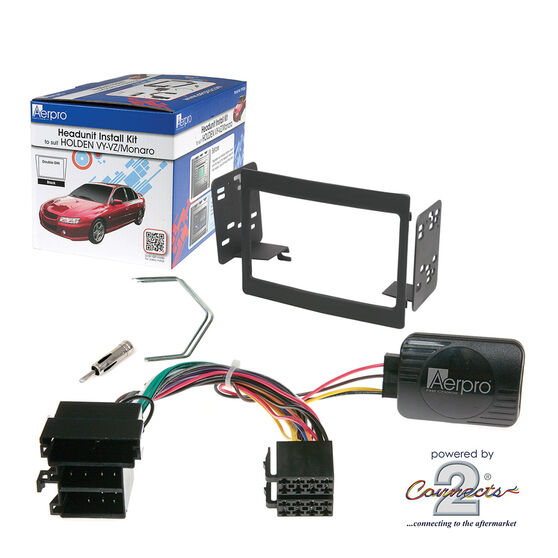 INSTALL KIT TO SUIT HOLDEN COMMODORE VY SERIES I, II; VZ & STATESMAN WK, WL (BLACK), , scaau_hi-res