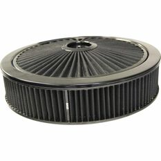 XTRA FLOW FILTER BLACK 14 X 3 RECESSED BASE WITH BLACK EDGE