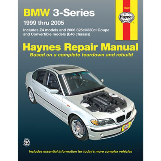BMW 3-SERIES AND Z4 HAYNES REPAIR MANUAL FOR 1999 THRU 2005. INCLUDES 2006 325CI/330CI COUPE AND CONVERTIBLE MODELS. (DOES NOT INCLUDE THE 318TI, 323IS, 328IS, Z3, OR INFORMATION SPECIFIC TO M3 MODELS OR ALL-WHEEL DRIVE MODELS), , scaau_hi-res