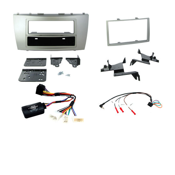INSTALL KIT TO SUIT TOYOTA CAMRY; AURION (PAINTED SILVER), , scaau_hi-res