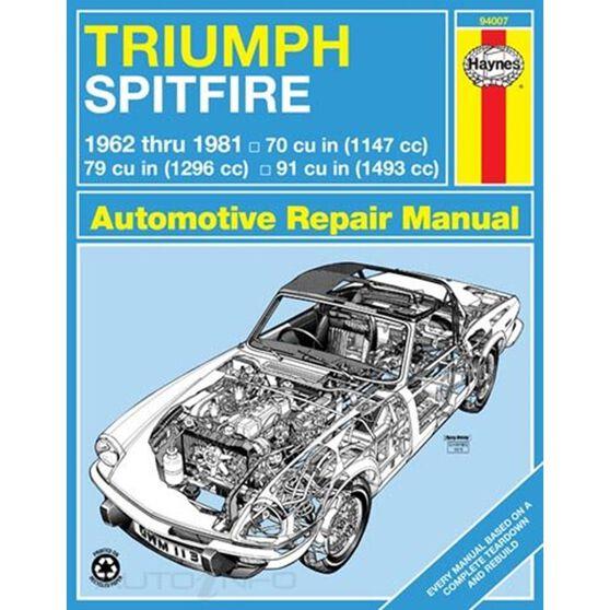 TRIUMPH SPITFIRE HAYNES REPAIR MANUAL FOR 1962 THRU 1981, , scaau_hi-res