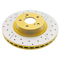 Street Gold Cross-drilled/slotted  KP [ Ford 96->EL F ] ABS HUB TYPE, , scaau_hi-res