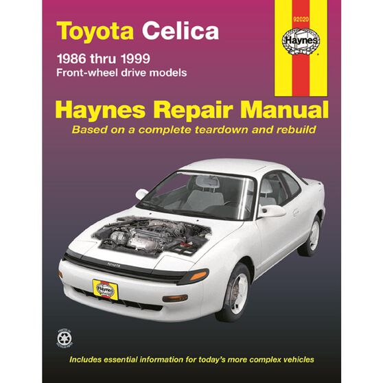 TOYOTA CELICA HAYNES REPAIR MANUAL COVERING ALL 1986 THRU 1999 FWD MODELS (EXCLUDES SUPRA AND 4WD ALL-TRAC MODELS), , scaau_hi-res