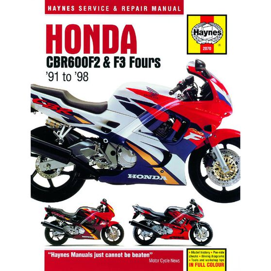 HONDA CBR600F2 & F3 FOURS 1991 - 1998, , scaau_hi-res