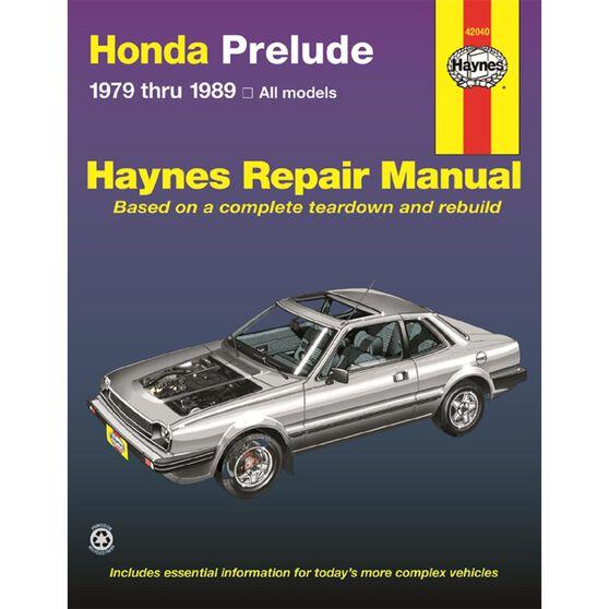 HONDA PRELUDE HAYNES REPAIR MANUAL COVERING ALL PRELUDE CVCC MODELS FROM 1979 THRU 1989, , scaau_hi-res