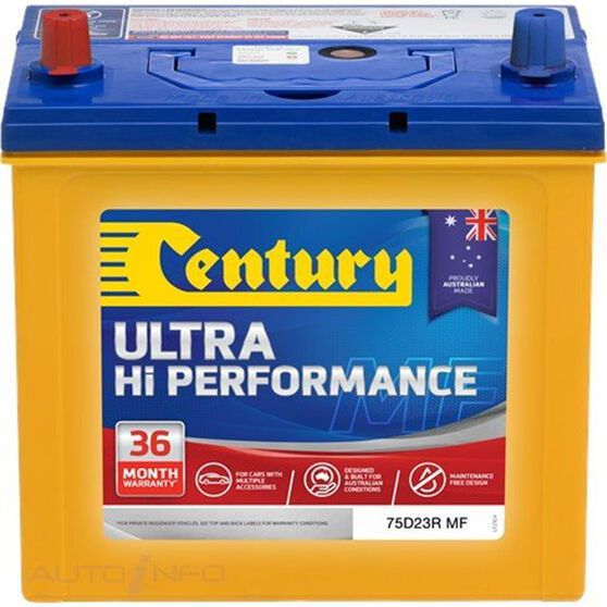 CENTURY UHP BATTERY - 75D23R MF, , scaau_hi-res