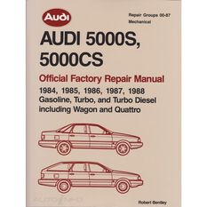 REPMAN  AUDI 5000S&5000CS 2VOLS (GAS TURBO&TURBDIES INC WAGON &QUATTRO) 1984-1988   9780837603704, , scaau_hi-res
