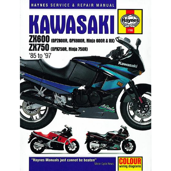 KAWASAKI ZX600 (GPZ600R, GPX600R, NINJA 600R & RX) & ZX750 (GPX750R, NINJA 750R) FOURS 1985 - 1997, , scaau_hi-res