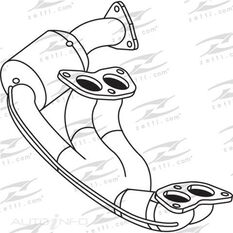 SUBARU FORESTER 2.0L 2.5L 16V 07/05 - 02/08 EJ20 EJ25D ENGINE PIPE - CAT ASSEMBLY, , scaau_hi-res