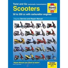 TWIST AND GO (AUTOMATIC TRANSMISSION) SCOOTERS SERVICE AND REPAIR MANUAL 50 - 250CC WITH CARBURETTOR ENGINES, , scaau_hi-res