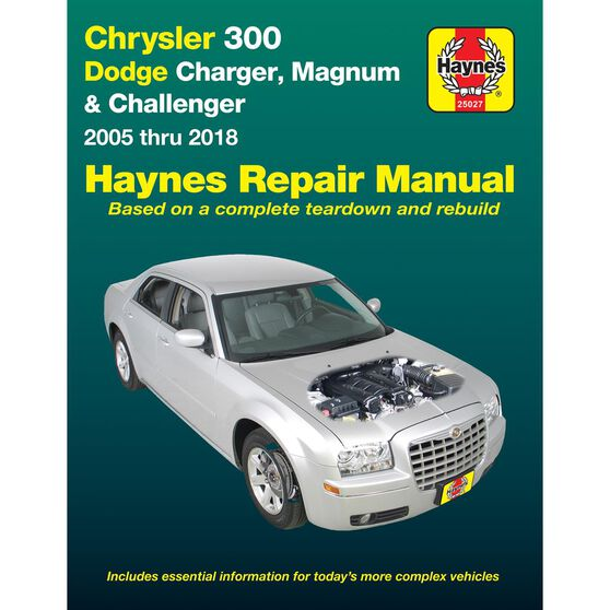 CHRYSLER 300 (2005 THRU 2010), DODGE CHARGER (2006 THRU 2010) AND MAGNUM (2005 THRU 2008) HAYNES REPAIR MANUAL (DOES NOT INCLUDE INFORMATION SPECIFIC TO SRT8, DIESEL ENGINE OR AWD MODELS), , scaau_hi-res