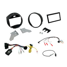 DOUBLE DIN INSTALL KIT TO SUIT MINI COOPER F55, F56 (GLOSS BLACK), , scaau_hi-res
