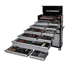 Tool Set 514Pc - 8 Drawer Chest + 11 Drawer Roller Cabinet + 501Pc Tool Set, , scaau_hi-res