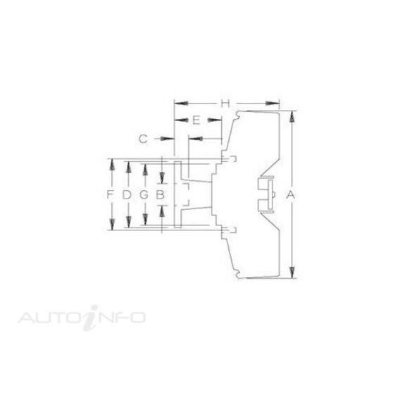 FAN CLUTCH - FORD BRONCO, FORD, , scaau_hi-res