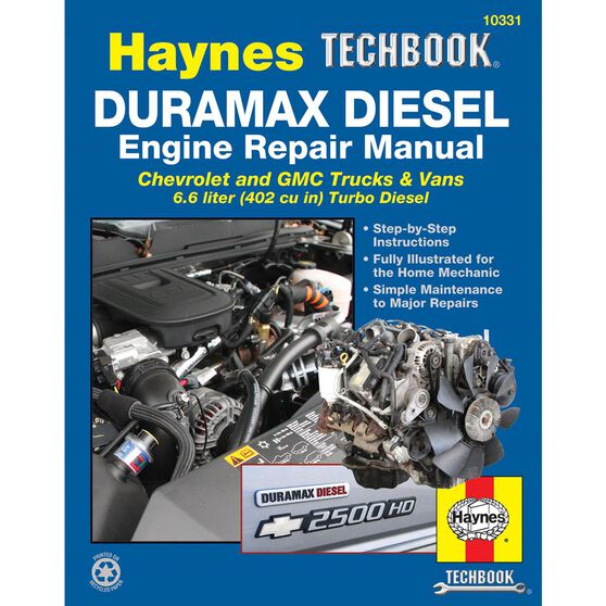 DURAMAX DIESEL ENGINE HAYNES TECHBOOK FOR CHEVROLET AND GMC TRUCKS AND VANS FOR 2001 THRU 2012, , scaau_hi-res