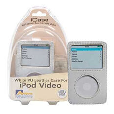 WHITE PU LEATHER CASE TO SUIT 30/60GB IPOD VIDEO, , scaau_hi-res