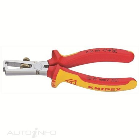 KNIPEX 1000V WIRE STRIPPER 160MM, , scaau_hi-res