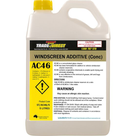 Windscreen Additive (Concentrate) - 5L Bottle, , scaau_hi-res