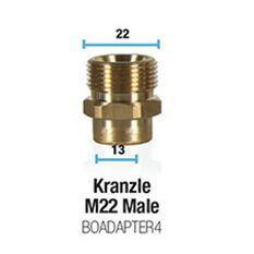 Kranzle M22 Male Adapter, , scaau_hi-res
