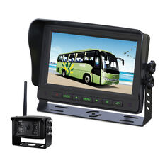 "7""WIRELESS COMMERCIAL GRADE DASH MOUNT DISPLAY REVERSE CAMERA KIT, , scaau_hi-res"
