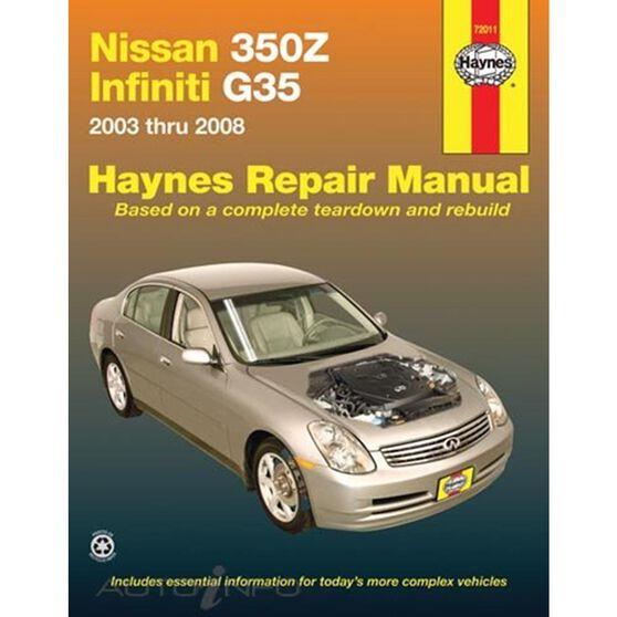 NISSAN 350Z AND INFINITI G35 HAYNES REPAIR MANUAL COVERING ALL MODELS 2003 THROUGH 2008 (EXCLUDES INFINITI G37), , scaau_hi-res