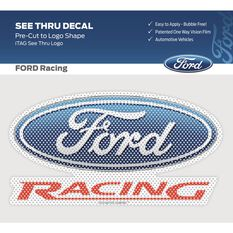 FORD ITAG  SEE-THRU RACING LOGO DECAL (FULL COLOUR FORD RACING LOGO)