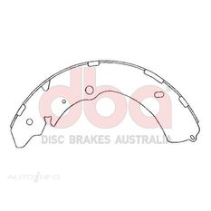 Street Series Brake Shoes [Holden Colorado/Rodeo 295mm], , scaau_hi-res