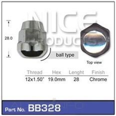 Wheel Nut Ball Taper, , scaau_hi-res