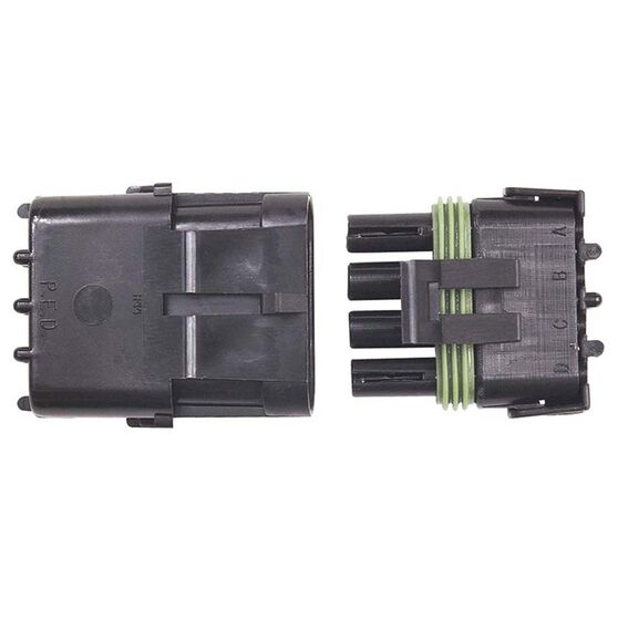 WEATHERTIGHT 4 PIN CONNECTOR MALE/FEMALE, , scaau_hi-res
