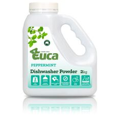 EUCA DISHWASHER POWDER PEPPERMINT 2KG, , scaau_hi-res