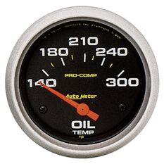 "PRO-COMP 2-5/8"" OIL TEMP GAUGE 140-300DEGF, SHORT SWEEP ELECT."