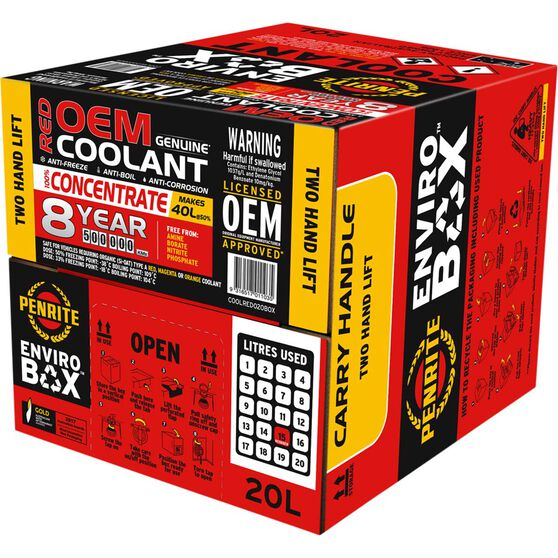 1 X 8 YR RED COOLANT 20L, , scaau_hi-res