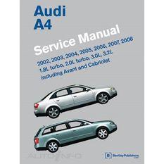 SERVMAN  AUDI A4 (1.8L&2.0LTURB  3L&3.2L INC AVANT&CABRIOLET) 2002-2008    9780837615745, , scaau_hi-res