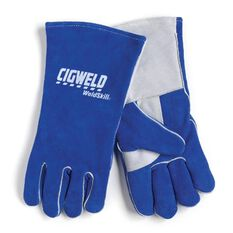 HEAVY DUTY WELDING GLOVES C/W QUALITY LEATHER & KEVLAR STITCHING