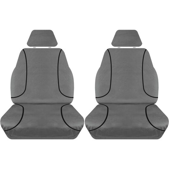 Tradies Heavy Duty Canvas Seat Cover Pack Suits Toyota Hi