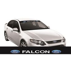 FORD ITAG SUN VISOR (WHITE FALCON BLOCK ON BLACK), , scaau_hi-res
