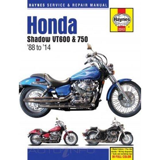 HONDA SHADOW VT600 & 750 (88 - 14) HAYNES REPAIR MANUAL, , scaau_hi-res