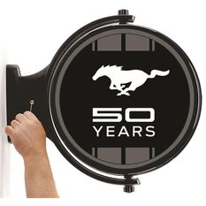 FORD MUSTANG 50 YEARS REVOLVING WALL LIGHT