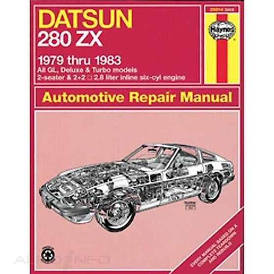DATSUN 280ZX HAYNES REPAIR MANUAL FOR 1979 THRU 1983, , scaau_hi-res